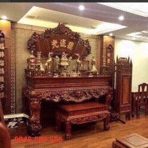 Mẫu bàn thờ nhà biệt thự