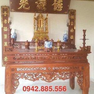 Mẫu bàn thờ rồng hóa mai đẹp