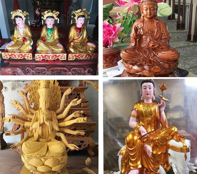 Một số mẫu tượng Phật, tượng Mẫuđượcđúc tại làng SơnĐồng