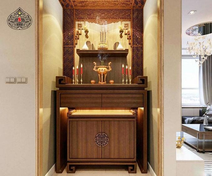 Chọn vị trí đặt bàn thờ chung cư