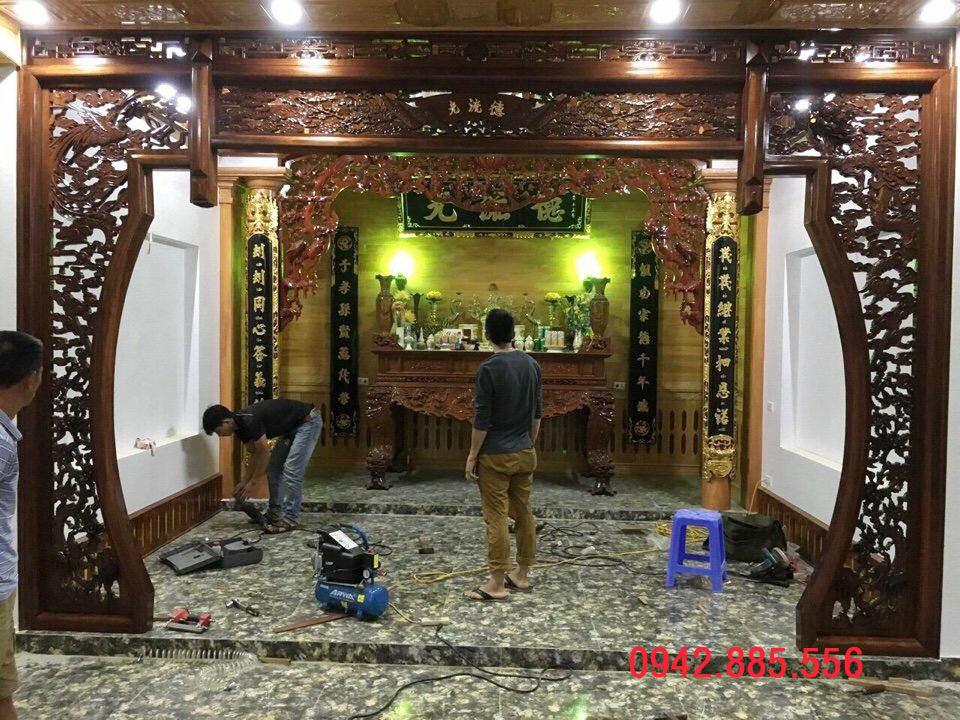 Gian thờ tư gia ở Hà Nội chất lượng, giá rẻ