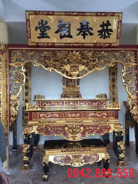 Lặp đặt trọn bộ đồ thờ nhà thờ tổ Thái Bình