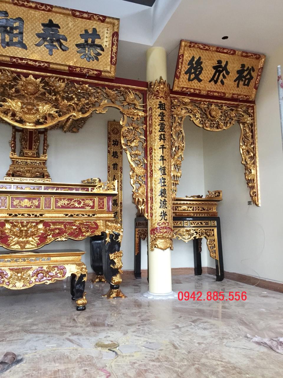 Không gian thờ cúng ở Thái Bình đẹp
