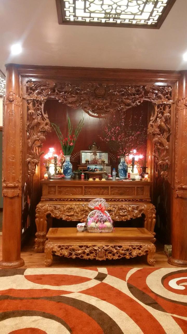 Bàn thờ tâm linh Sơn Đồng phù hợp với mọi không gian thờ cúng