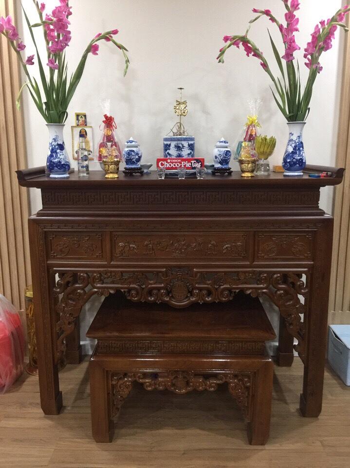 Mẫu bàn thờ gia đình cỡ nhỏ