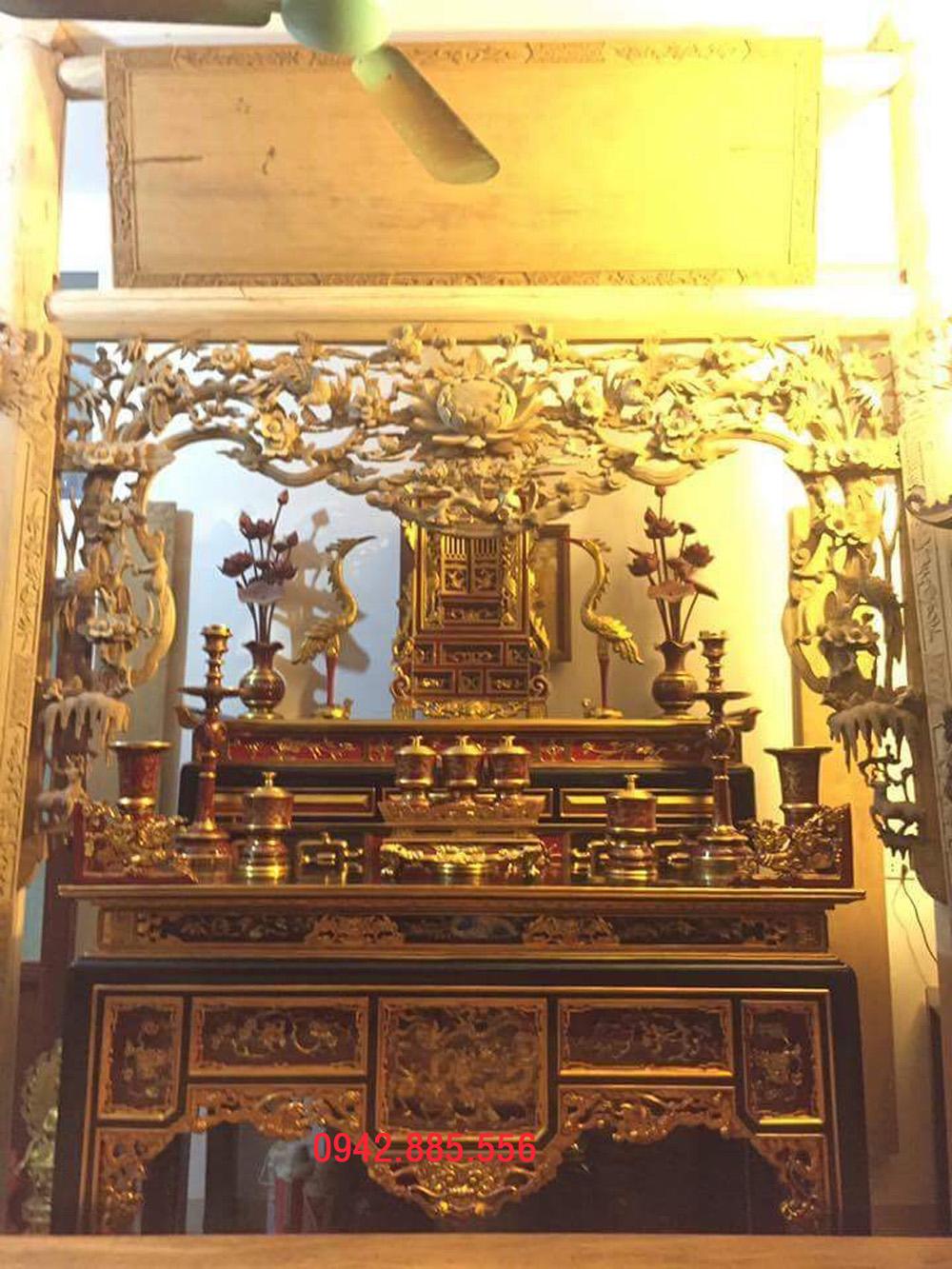 Không gian thờ nhà cột 1