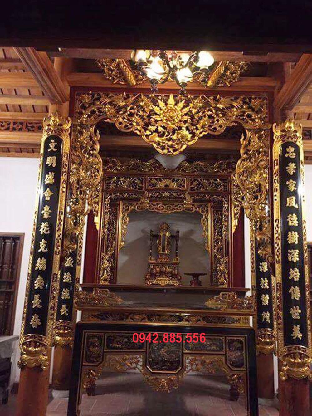 Gian thờ nhà 4 cột 2