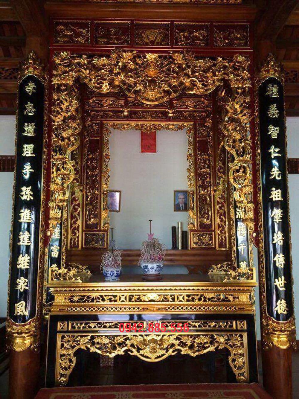 Gian thờ nhà cột 2