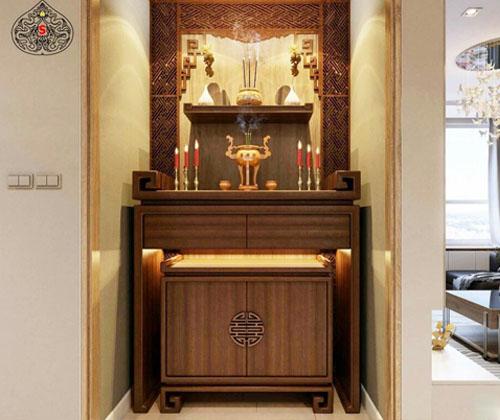 Lựa chọn bàn thờ cho nhà chung cư có thiết kế hợp lý