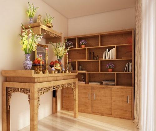 Đặt bàn thờ nhà chung cư như thế nào sao cho hợp phong thủy