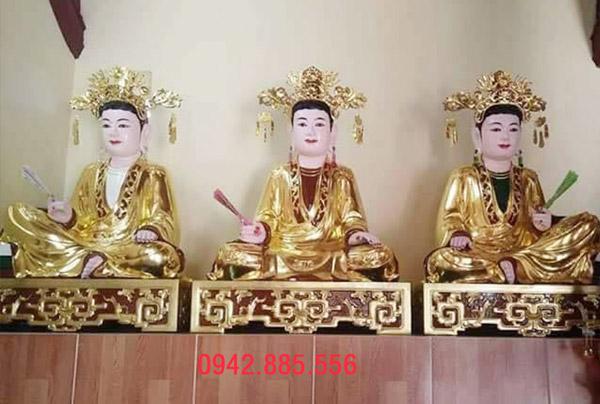 Nghề sơn son thếp vàng tượng Phật của làng nghề Sơn Đồng
